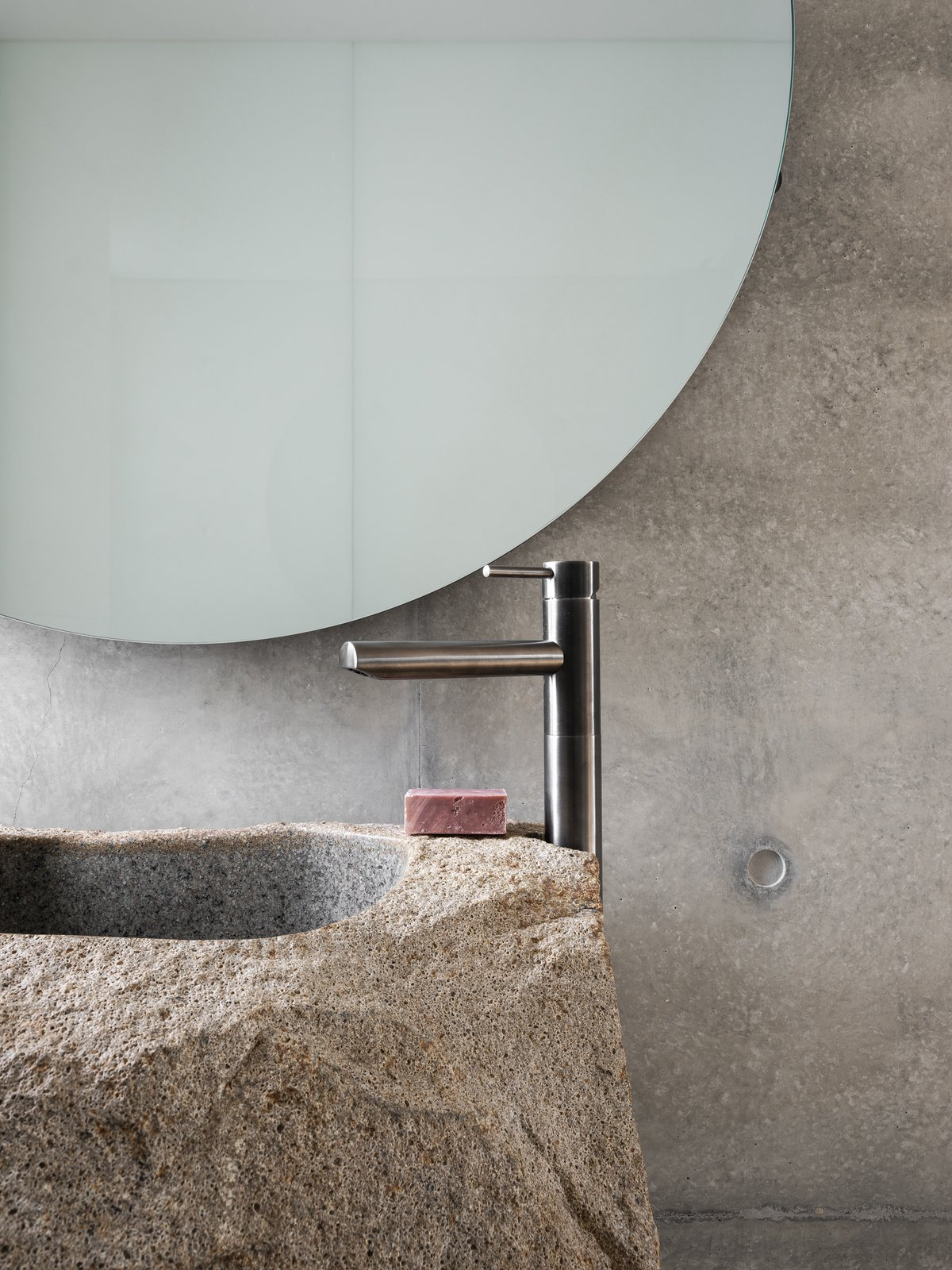 Powder room of Higher Ground by Stafford Architecture