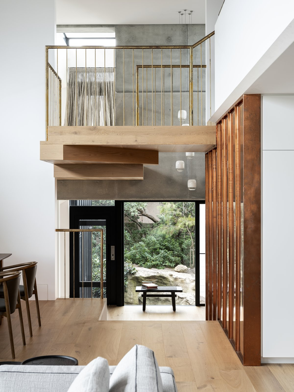 Living area of Higher Ground by Stafford Architecture