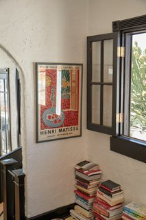"""A vintage Henri Matisse poster in its original frame that Natalie scored off eBay: """"I think I watched this one for over six months and finally got it,"""" she says."""