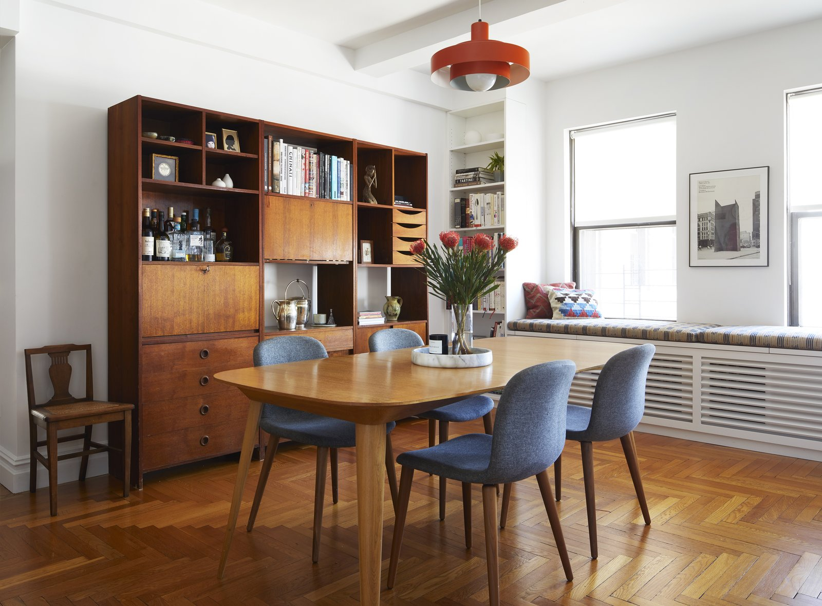 Dining area in Eastern Parkway by Frederick Tang Architecture
