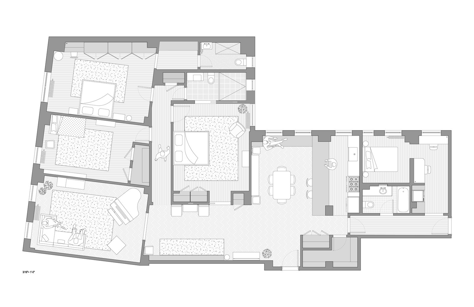 Renovated Plan of Eastern Parkway by Frederick Tang Architecture