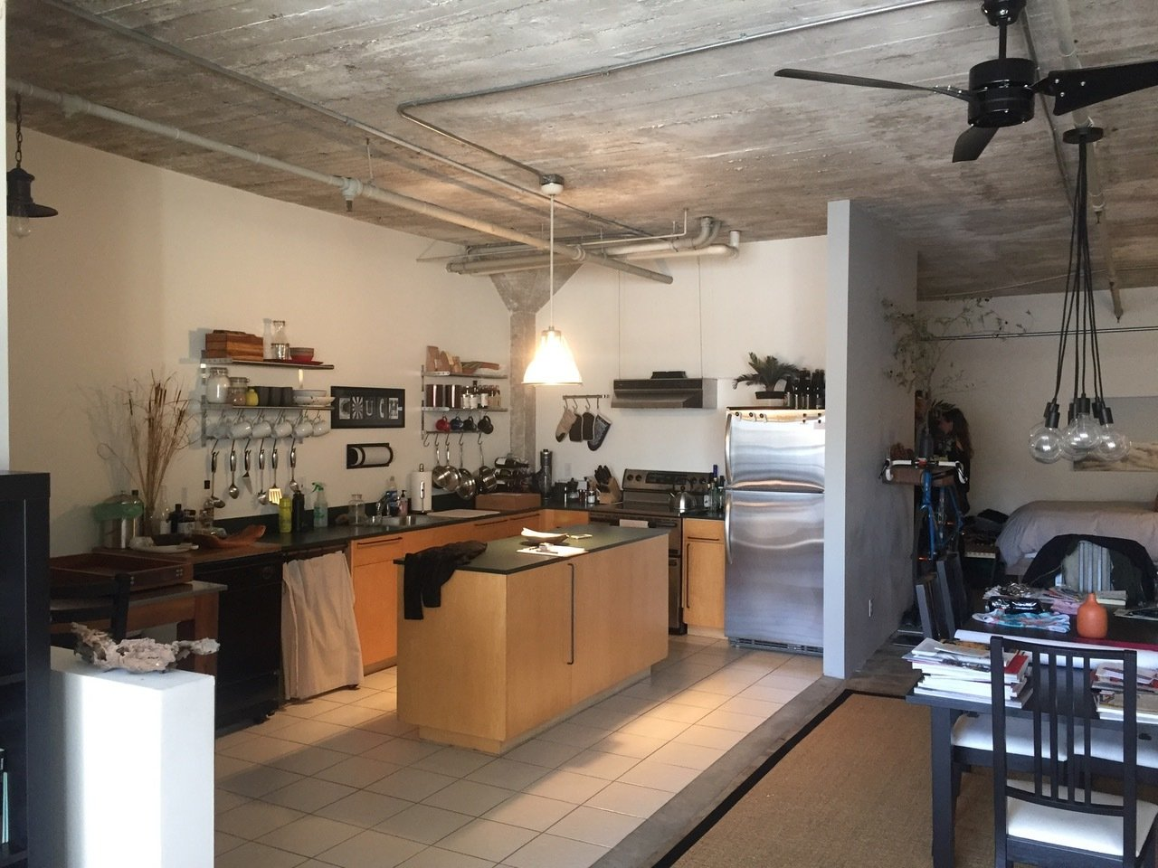 Before: Kitchen in 18th Street Loft by Siol Studios