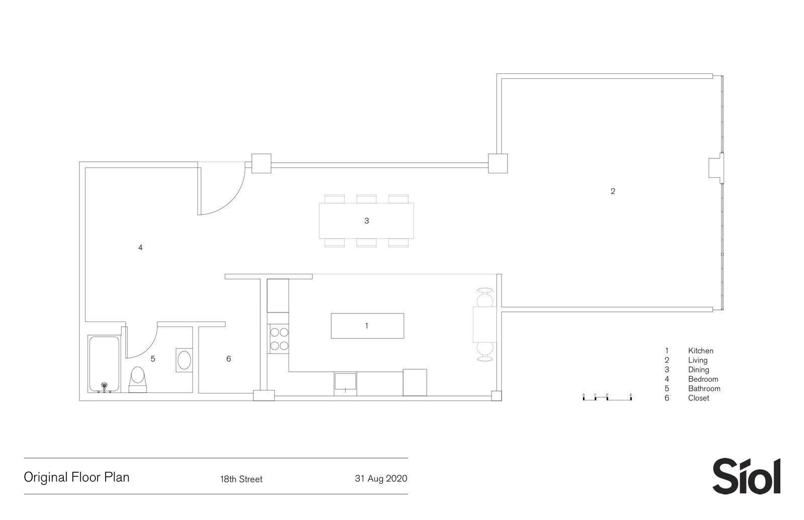 18th Street Loft original floor plan