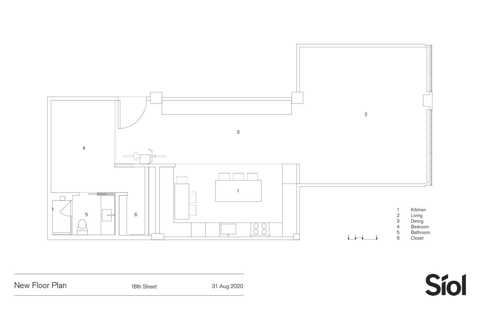 18th Street Loft new floor plan