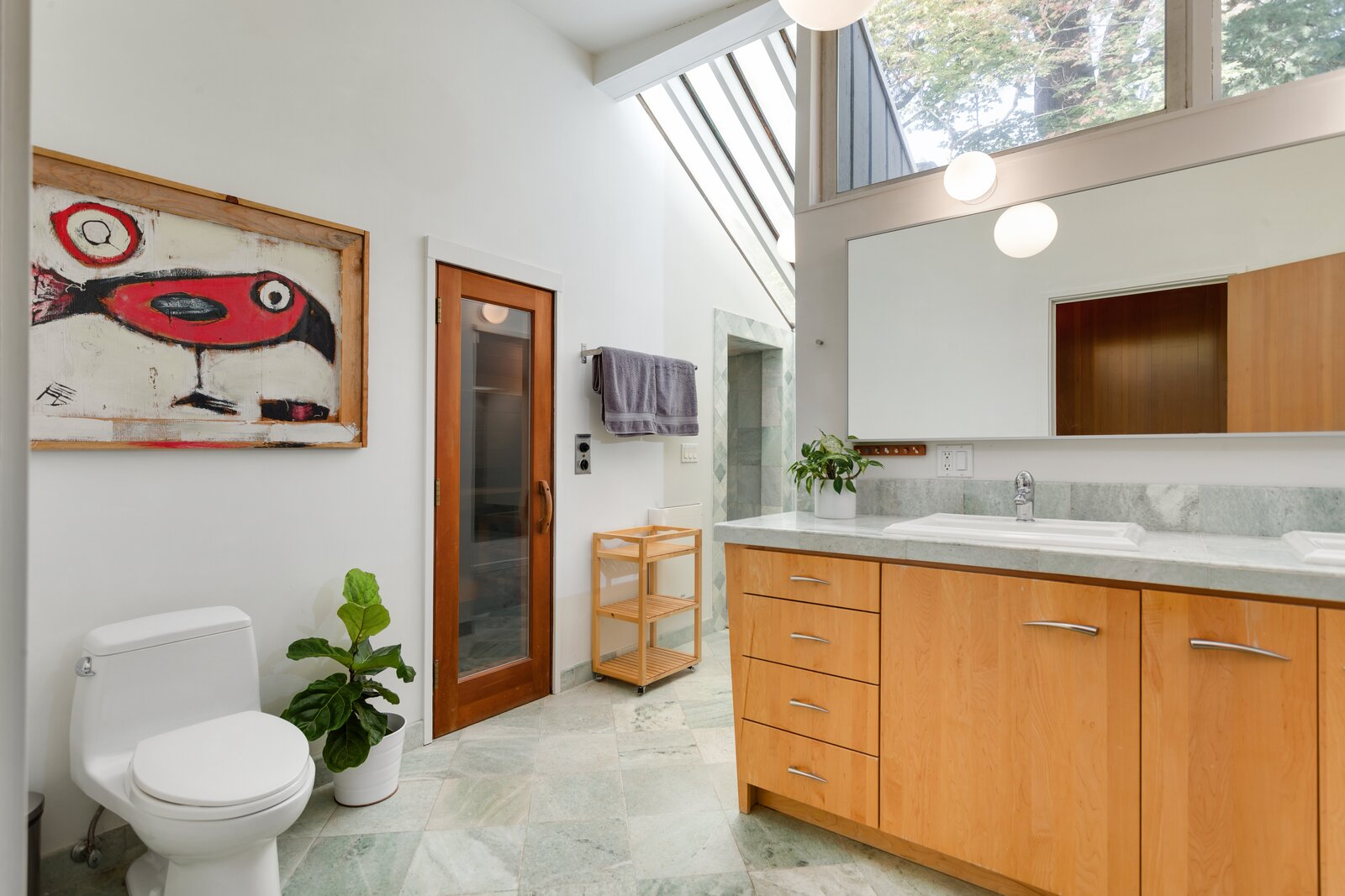 Bathroom in Smith-Gerst Residence by Frank Shell
