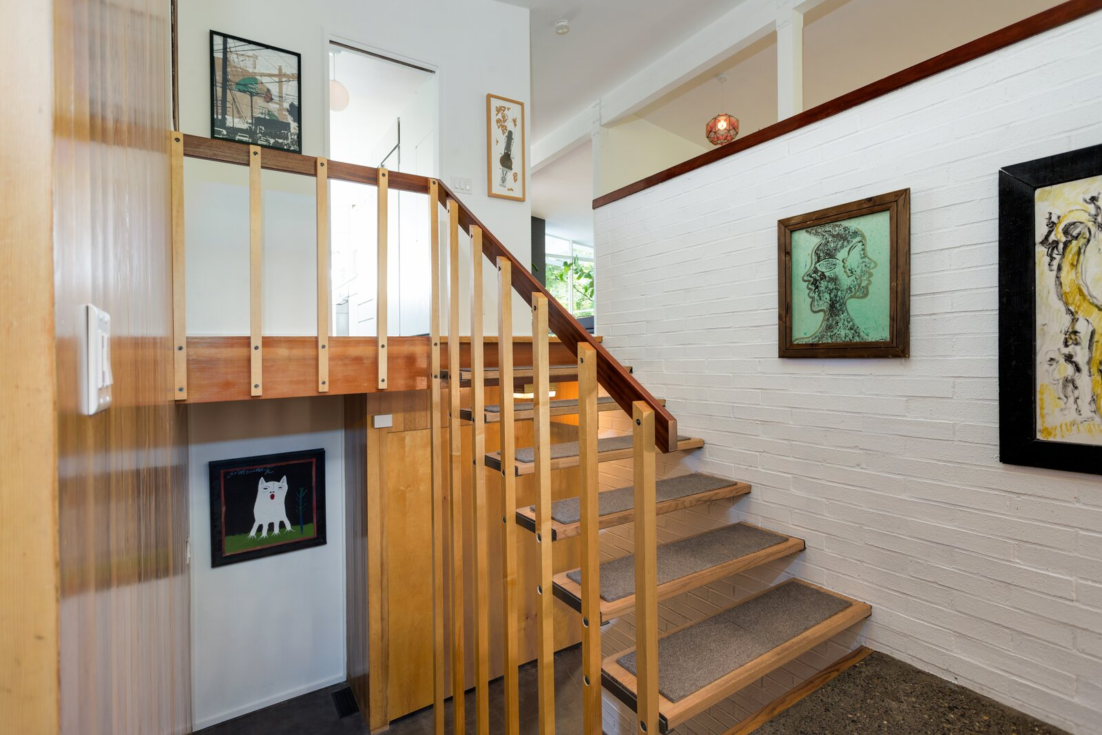 Staircase in Smith-Gerst Residence by Frank Shell