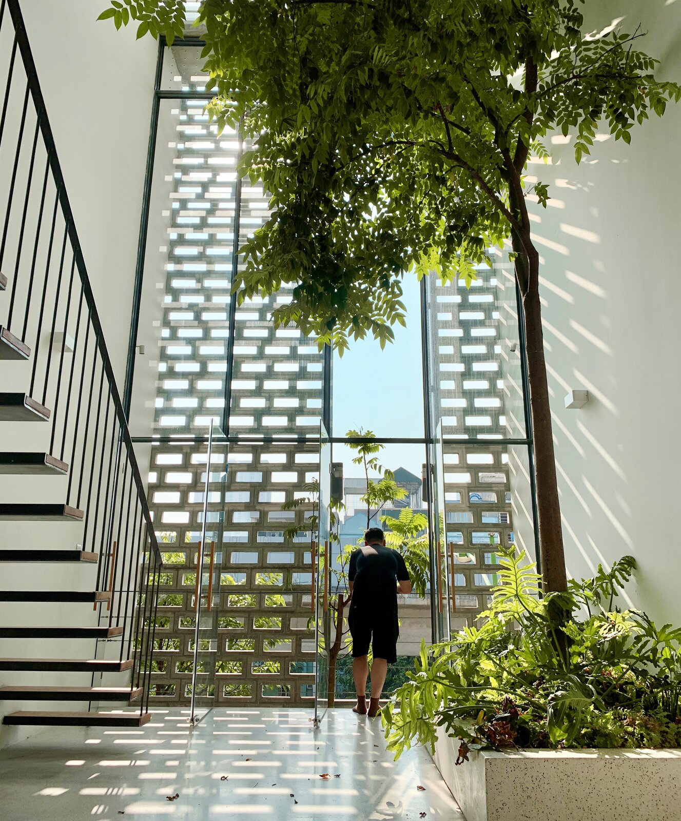 Staircase of CH House by ODDO architects