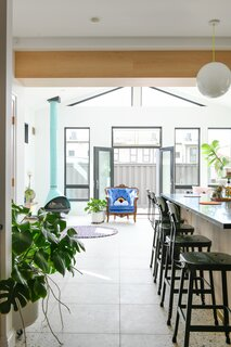 """Although construction paused during the pandemic, the couple were able to wrap the project in August 2020. Plentiful sunlight now streams into the space. """"It had to be light, it had to be bright,"""" says Shawn. """"It was going to be a room that our family would be in for most of the time."""""""