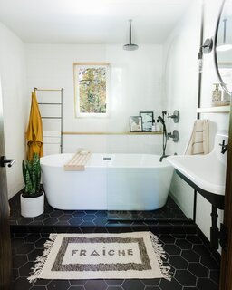 The downstairs bathroom was also dramatically redone for a total of $18,121.