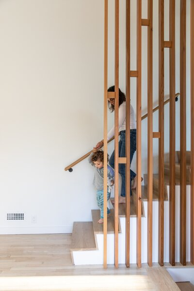 Best 60 Modern Staircase Wood Railing Design Photos And Ideas Dwell