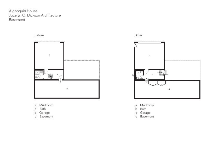 Before & After: Basement  Photo 30 of 32 in Before & After: An Architect Resuscitates Her Funky Beach Bungalow in Maine
