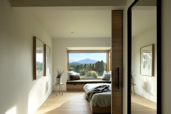 Now, at the top of the stairs, the owners are met with a beautiful view to the mountains.