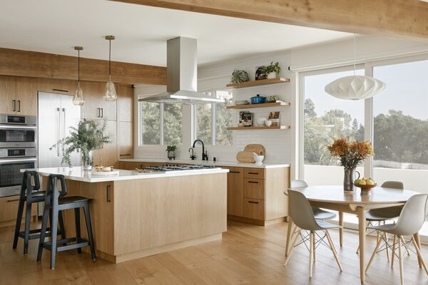 Cheng opened up the kitchen to the main living spaces and gave it an uber-functional layout.
