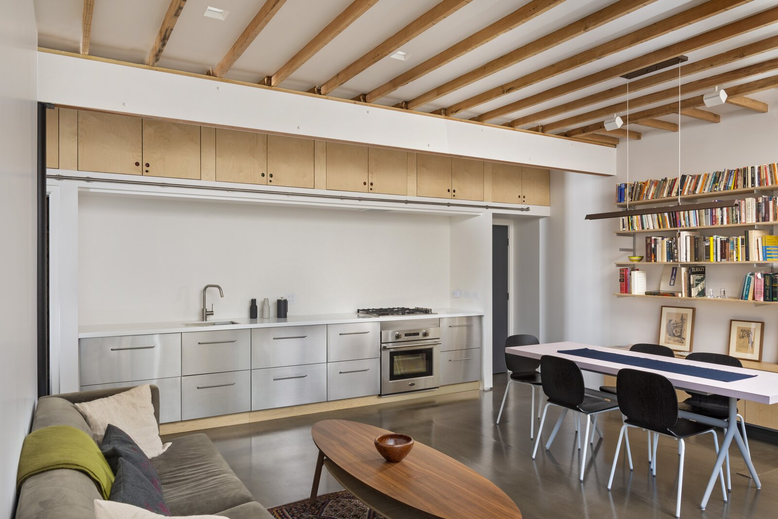Third Street renovated kitchen and living space