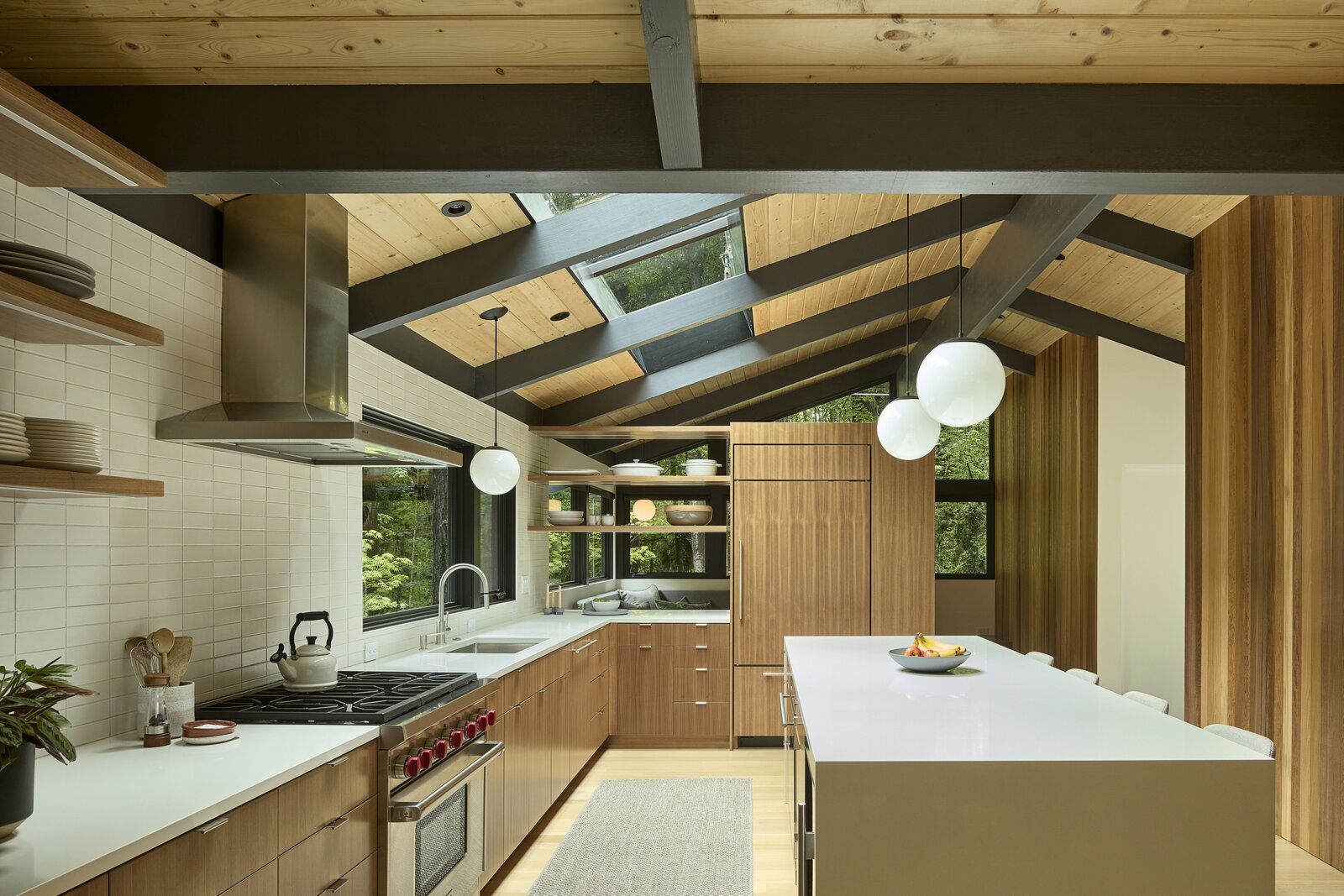 Kitchen of Glen Road Residence by Risa Boyer Architecture