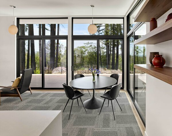 """The design brief for the interior? """"A lot of light and a lot of windows,"""" says Michele."""