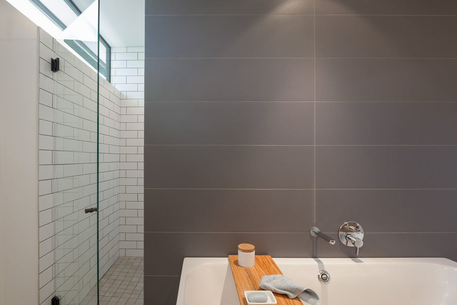Bath Room and Freestanding Tub Master Bathroom  Pavilion Haus by studioMET architects