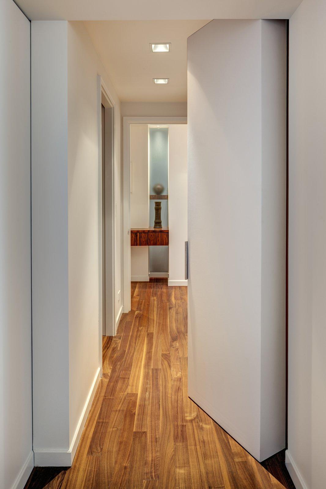Closet, Interior, Swing, and Hallway Master Bedroom Hallway Closets  Best Hallway Interior Closet Photos from Upper West Side Duplex, New York
