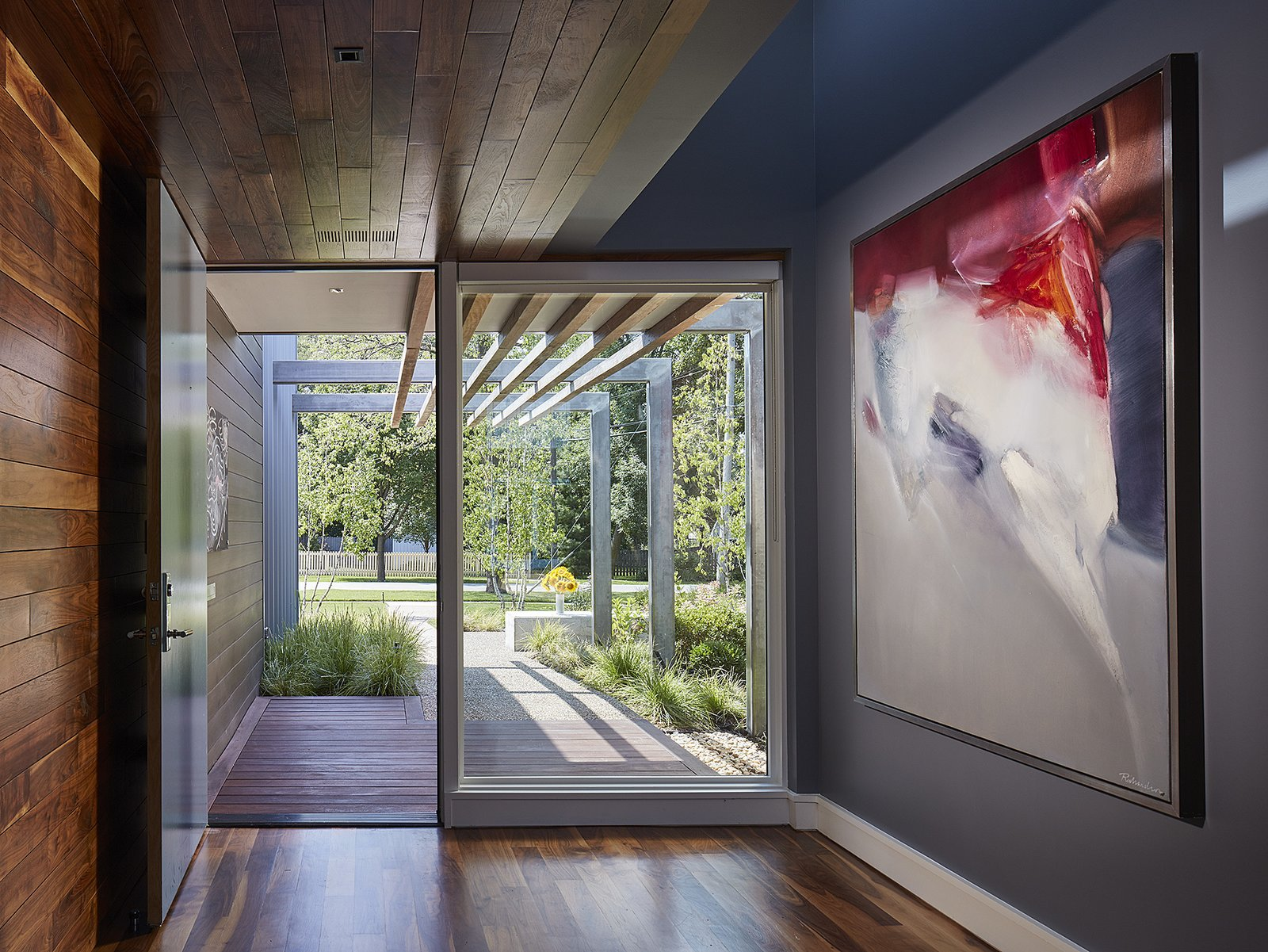 entry hallway  Courtyard Residence by Kuklinski + Rappe Architects