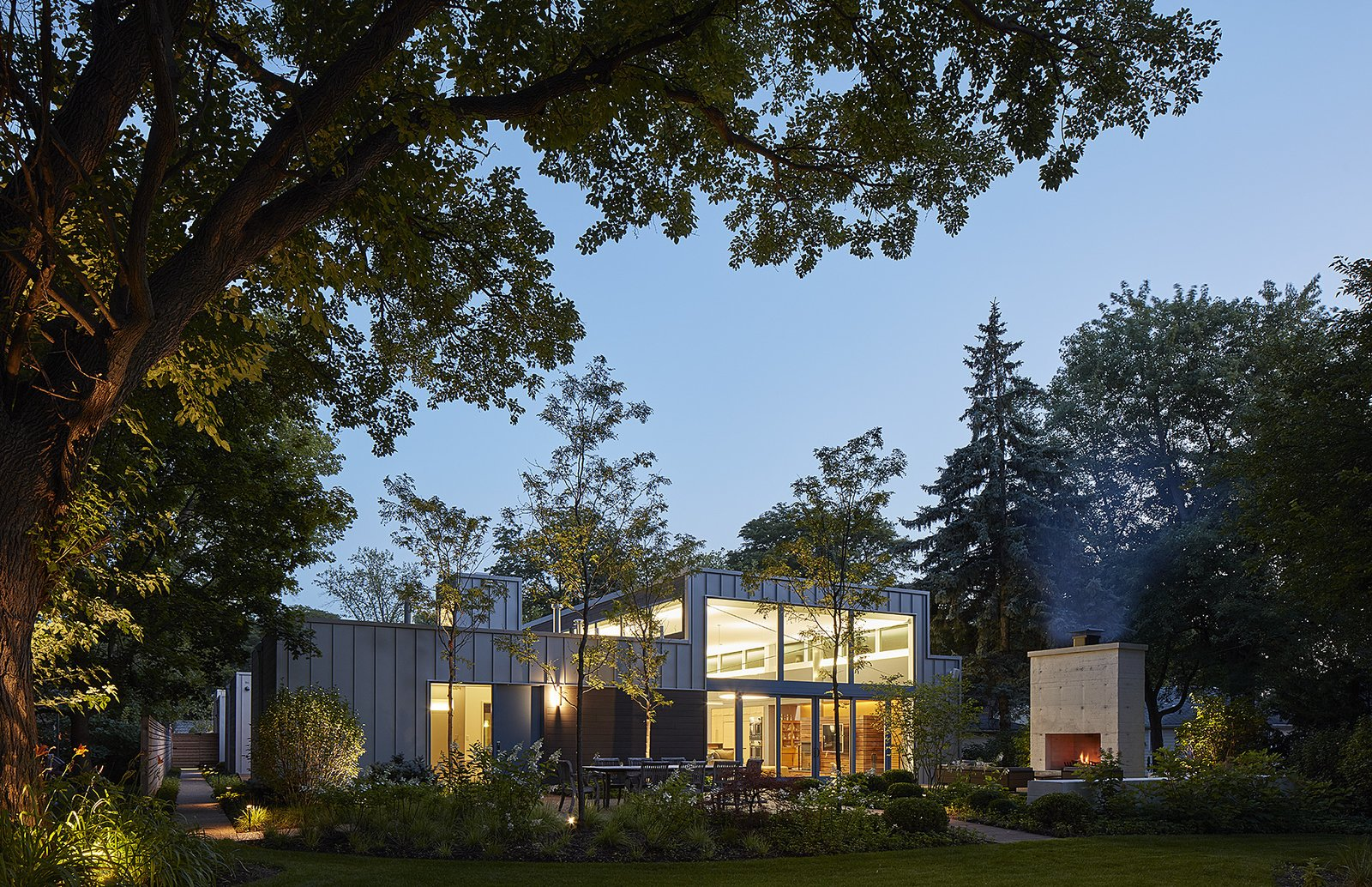 north elevation  Courtyard Residence by Kuklinski + Rappe Architects