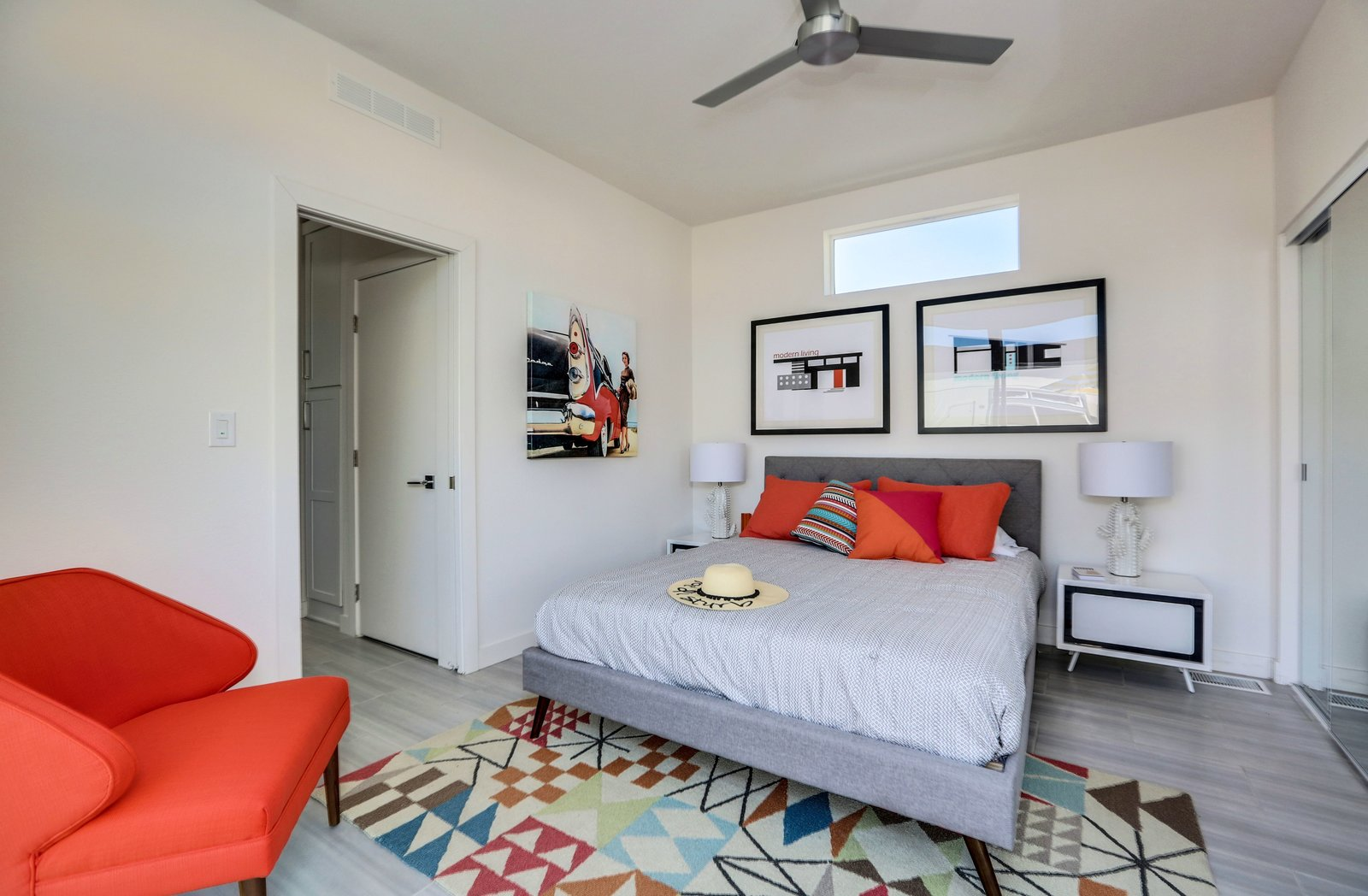 Bedroom - Palm Canyon Mobile Club  Tiny Homes in Palm Springs