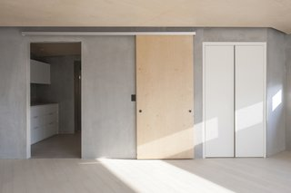 Upper Floor Sliding Door - Open to Bathroom