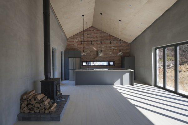 Fireplace & Open Kitchen