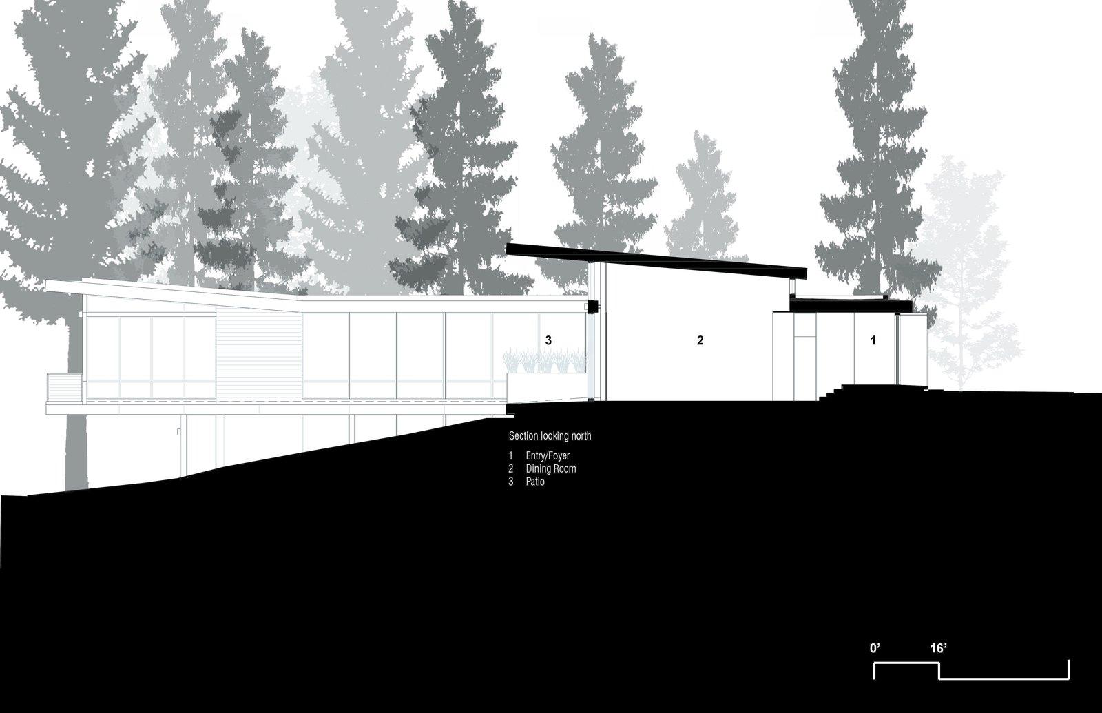 Longitudinal Section  Martis Camp Residence 1 by John Maniscalco Architecture