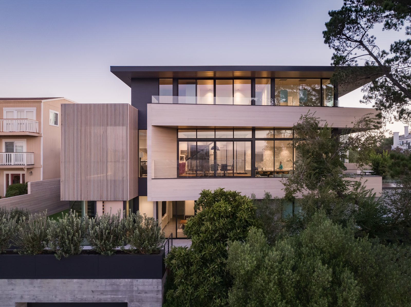 Exterior, Flat, Glass, Metal, Wood, Concrete, Metal, and House Exterior  Best Exterior Metal Wood House Glass Metal Photos from Dolores Heights Residence I