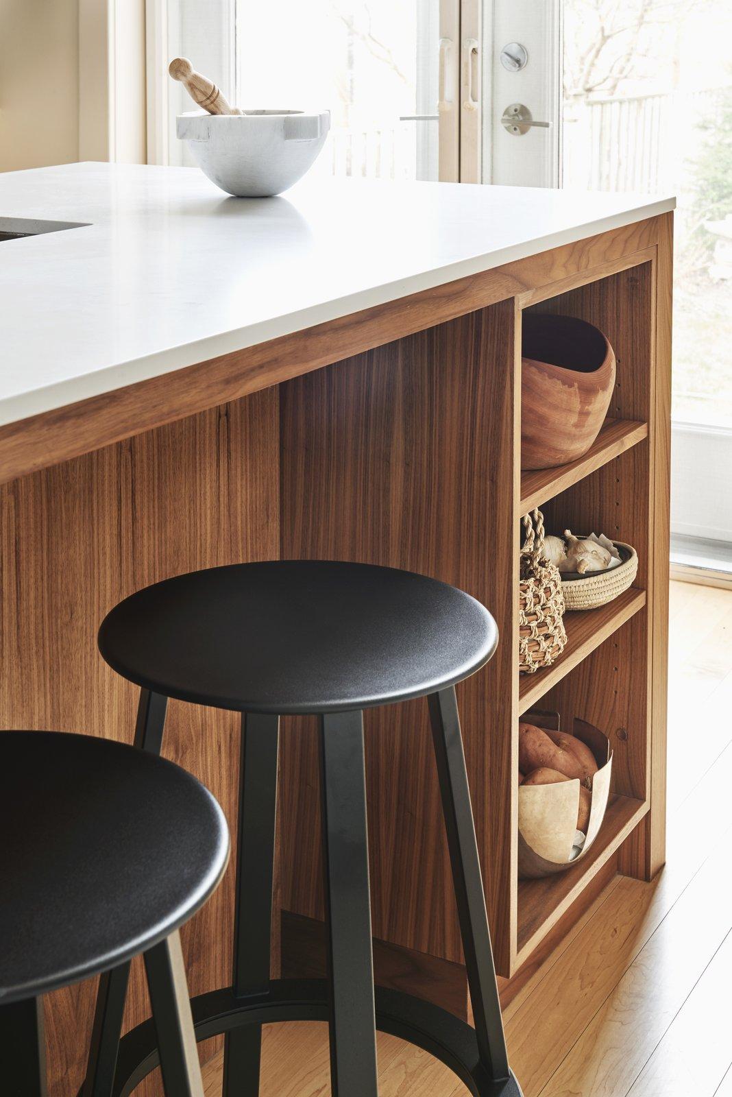 Kitchen Extra storage in the walnut island  Best Photos from Bartlett House