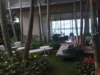Modern home with Outdoor. Center Garden with passage to ocean view Photo  of Bal Bay