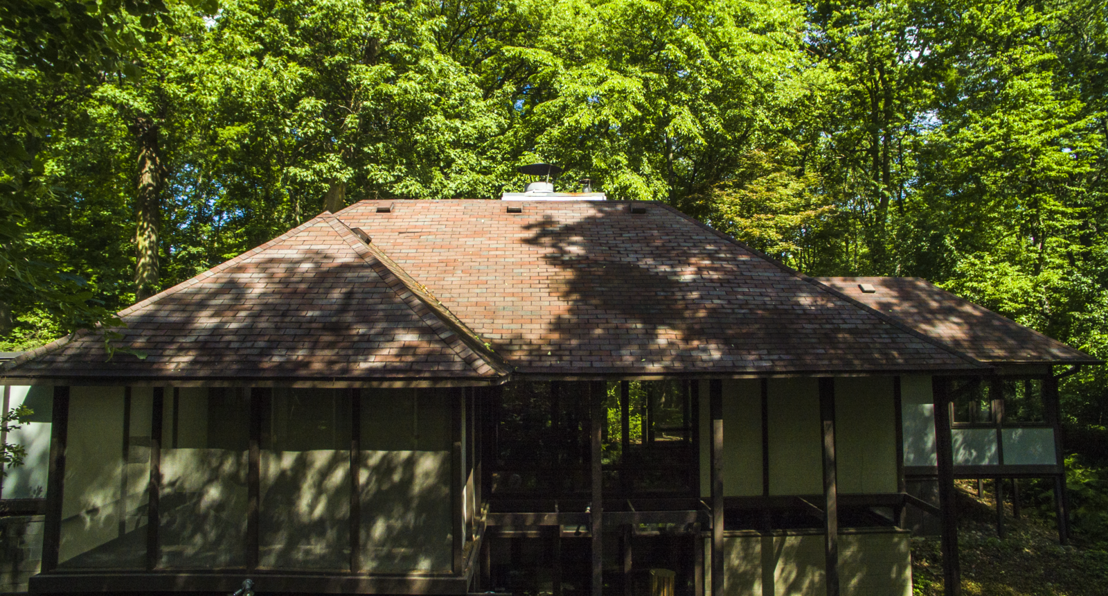 Exterior Before exterior  Kalamazoo Post and Beam Restoration by Trystcraft