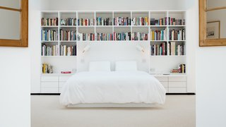 Master bedroom from open walk-in closet area