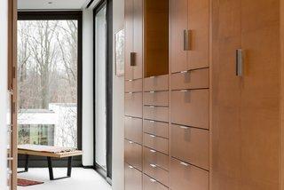 Custom cabinetry, open walk-in