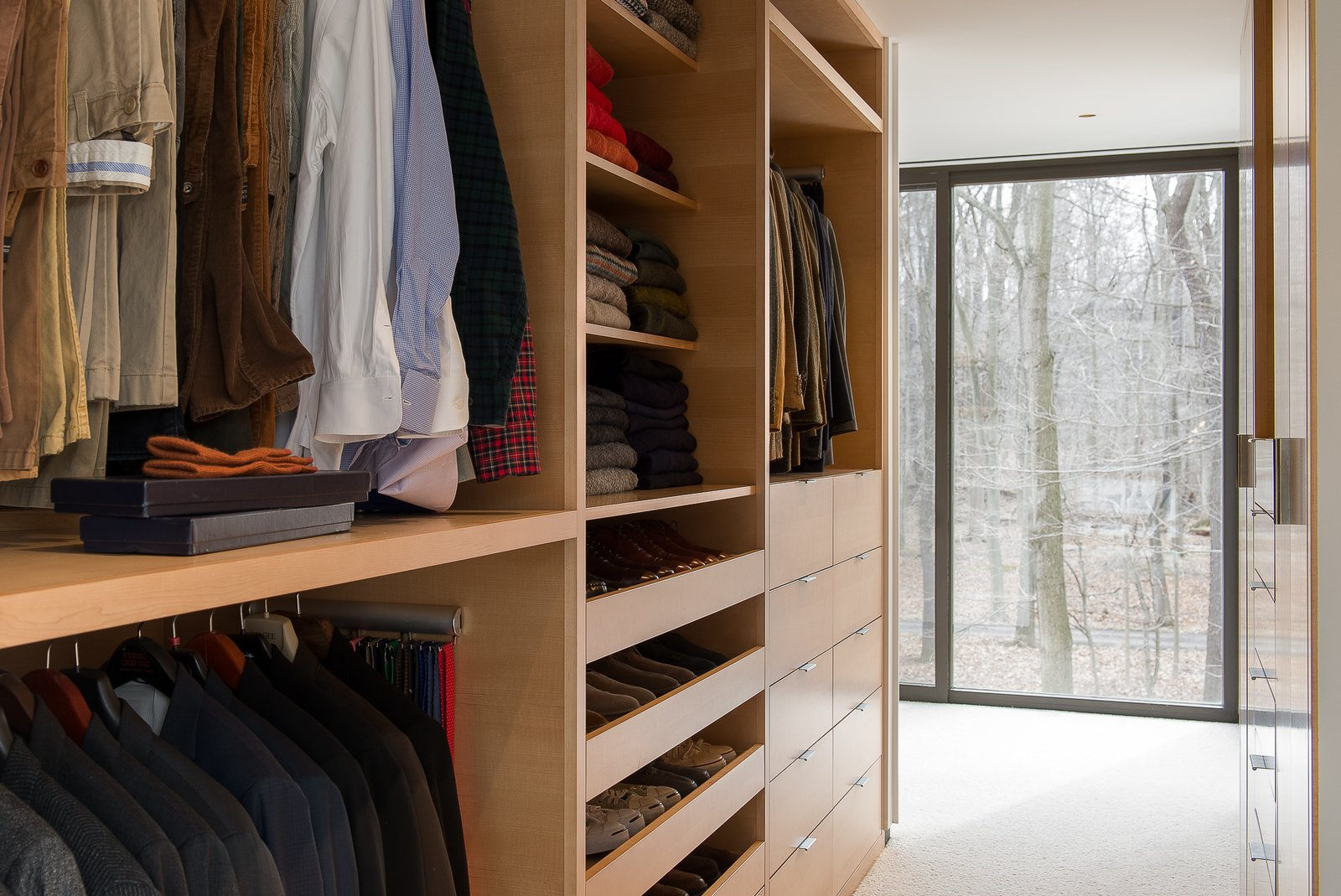 Storage Room and Closet Storage Type Custom cabinetry, open walk-in  House in the Woods by Kim Smith
