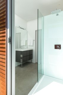 Luxurious and simple master bath.