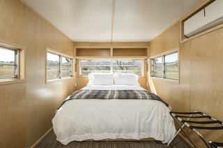 Interior of trailer.  The Rambler is now a clean, sleek retreat.