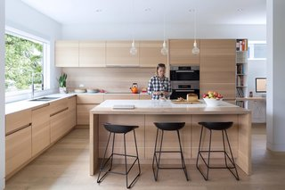 The custom kitchen millwork was designed by local furniture designer and manufacturer, Christian Woo.