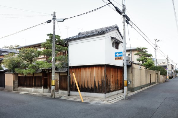 Exterior, Wood, House, Gable, Stucco, and Tile Nichinichi Townhouse in Kyoto, Japan  Best Exterior Tile Wood Stucco Photos from A Minimalist Townhouse Provides Serene Accommodations in Historic Kyoto