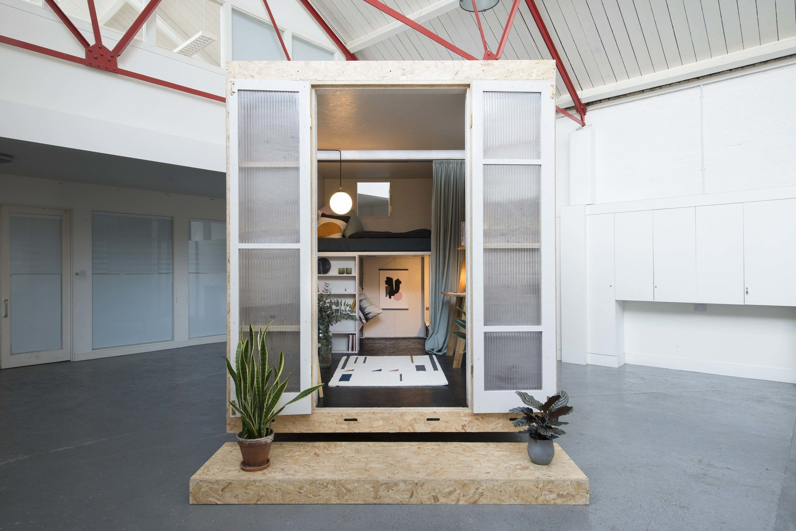 Exterior, Small Home Building Type, and Prefab Building Type The collaborative team of Studio Bark and Lowe Guardians describe the SHED concept as  Photo 7 of 10 in Dwell's Top 10 Prefabs of 2017 from A New Concept For Modular, Affordable Housing Is Coming to London's Vacant Buildings