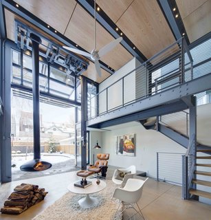 A Steel-and-Glass Addition With a Giant Hangar Door Maximizes Indoor/Outdoor Living