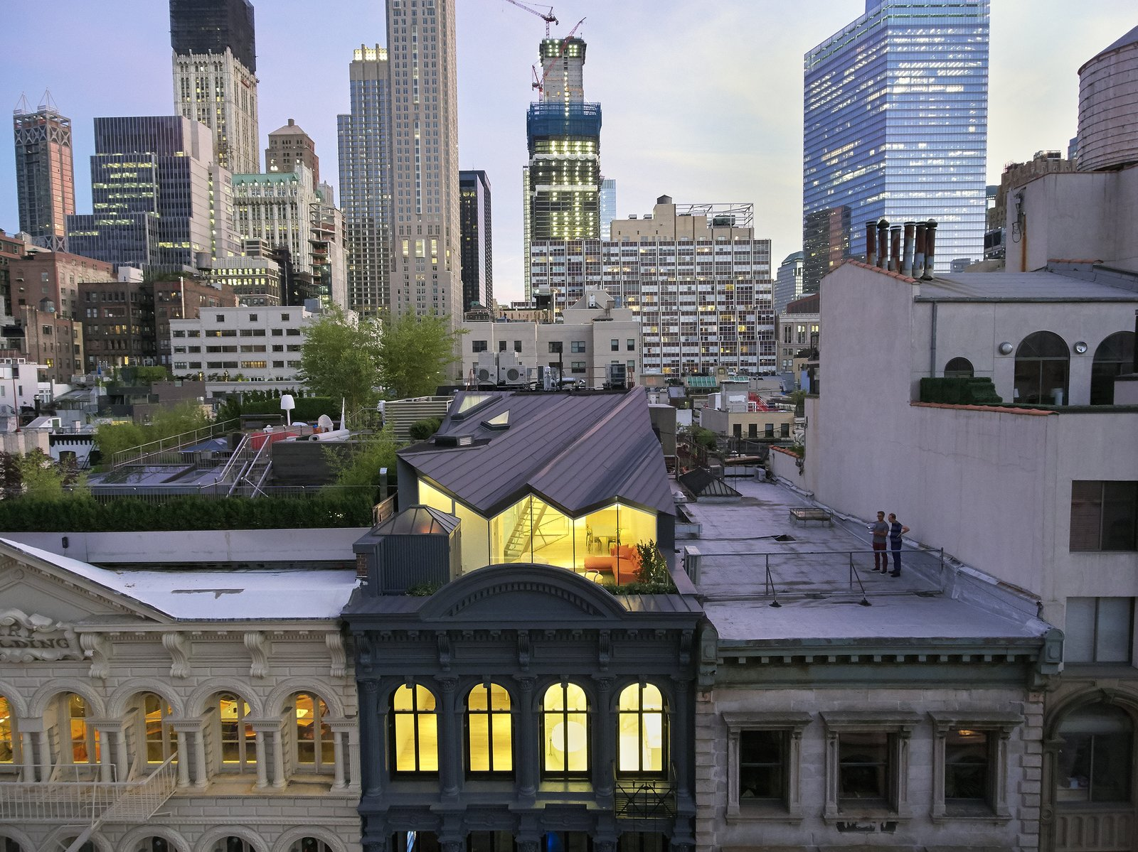 Outdoor and Rooftop Earning the nickname  Photos from A Hidden Penthouse Sits Atop a Historic Cast-Iron Building in New York