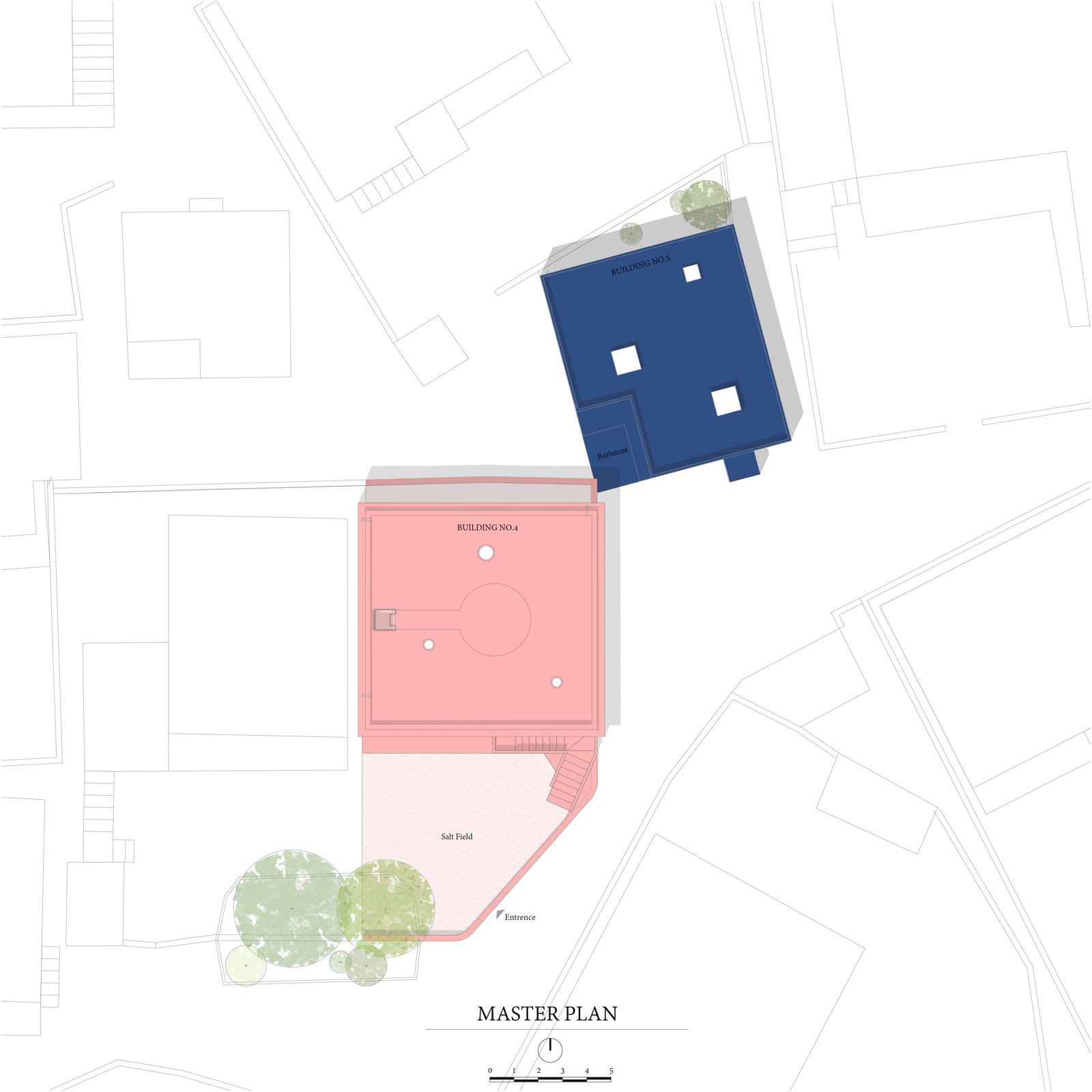 Site Plan.   Photo 2 of 17 in These Pink and Blue Homes Use Gender as a Metaphor For Urban Revitalization