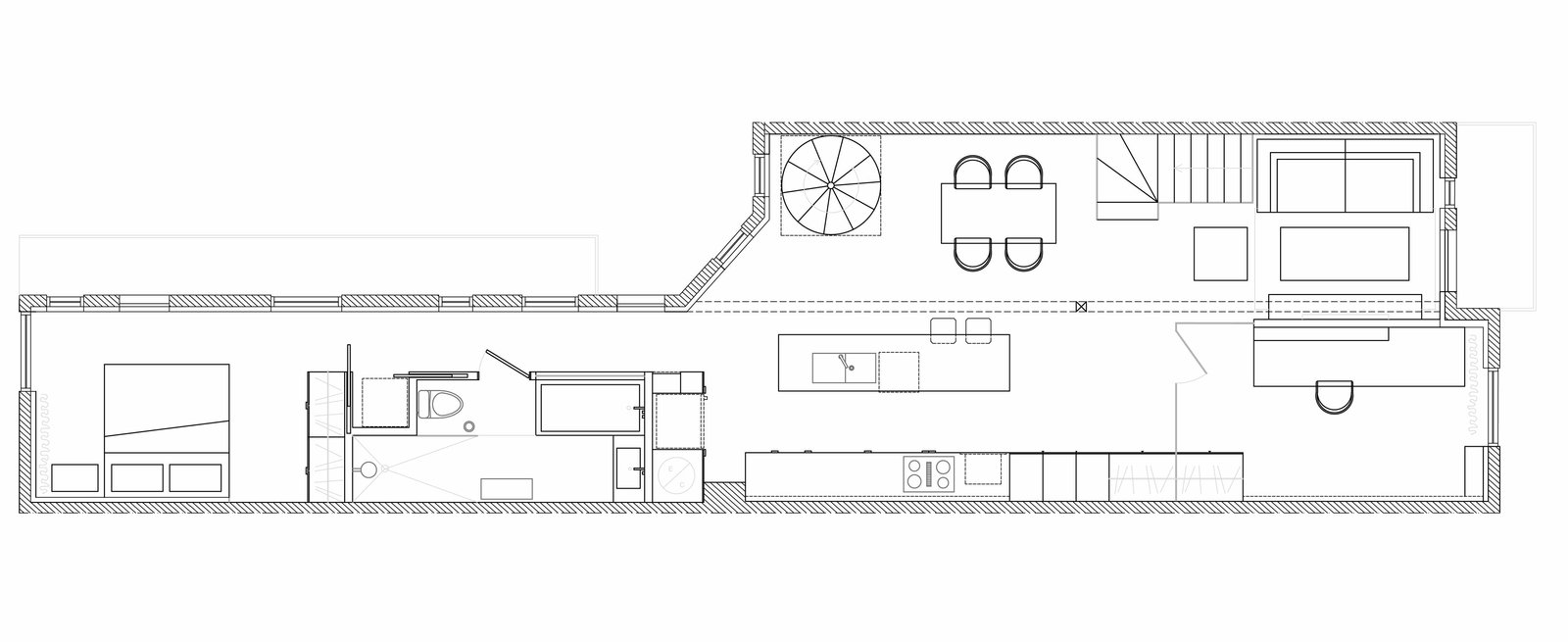 Floor Plan of Espace Panet.   Photo 11 of 12 in A 1910 Apartment Transforms Into an Open, Radiant Loft