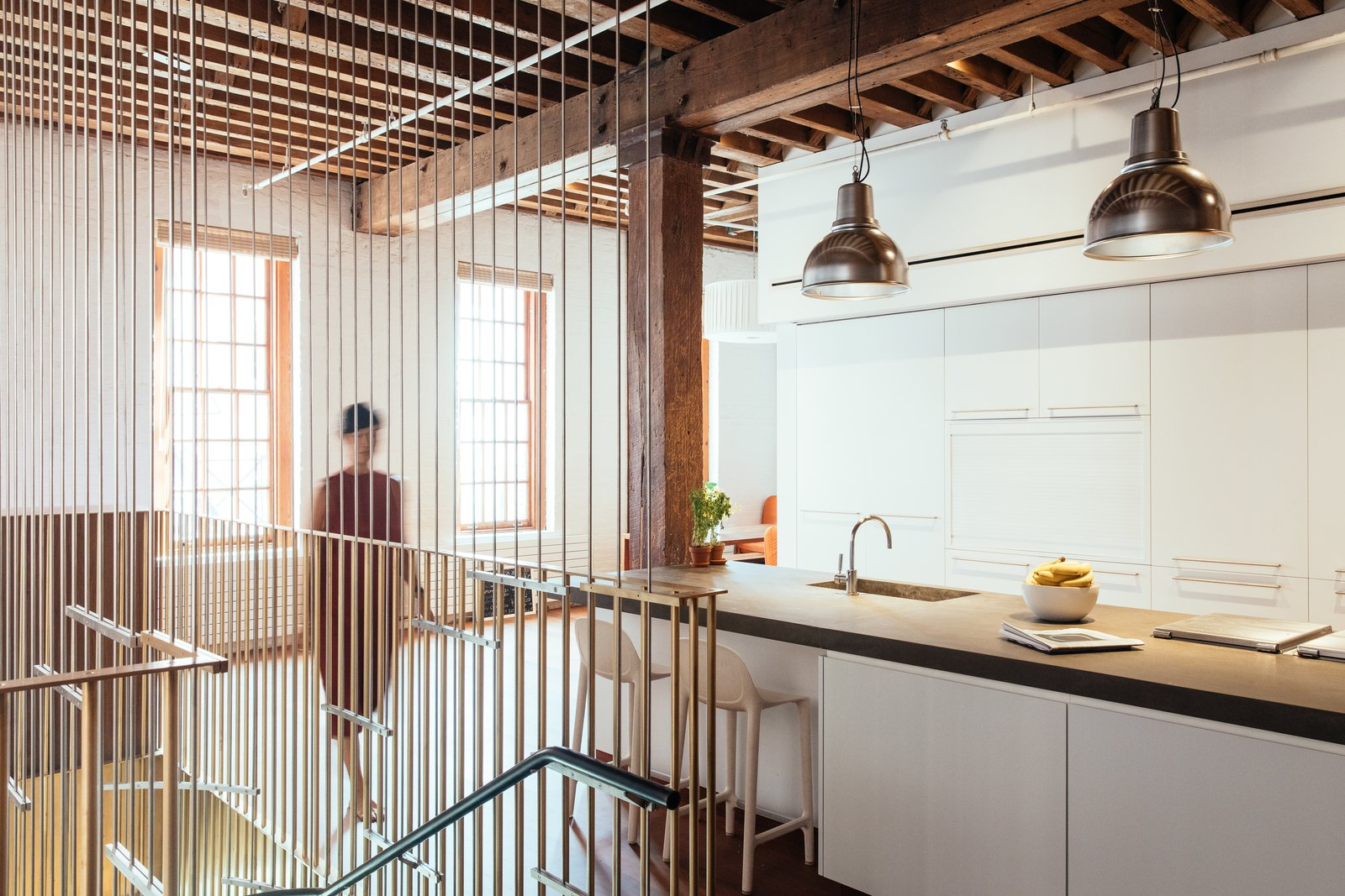 Photo 11 of 13 in A Steel Staircase Merges Two Units Into One in ...