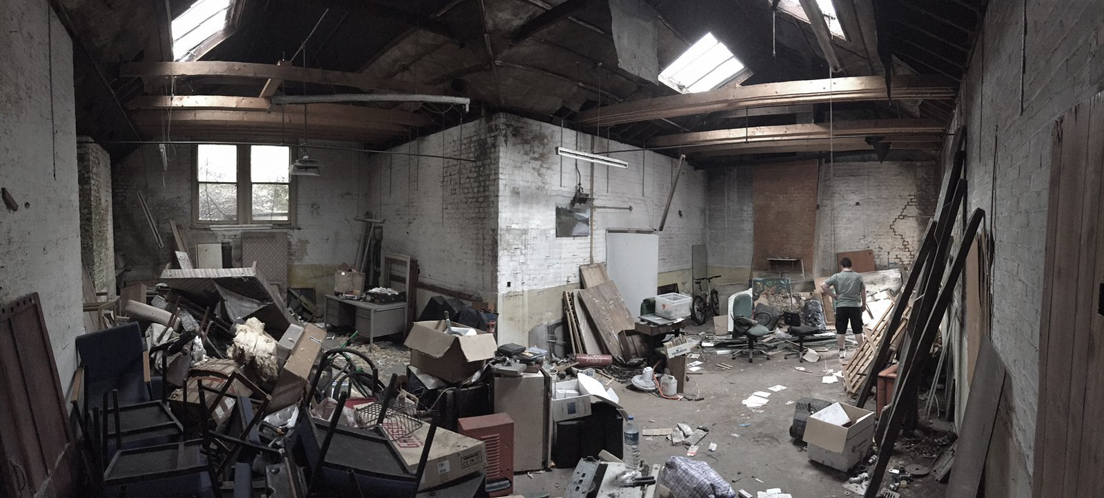 The existing warehouse was left abandoned and run down, in need of a new owner, constructive repair, and a new life.   Photo 1 of 12 in A Forgotten Warehouse Is Reborn Into a Light-Filled London Home