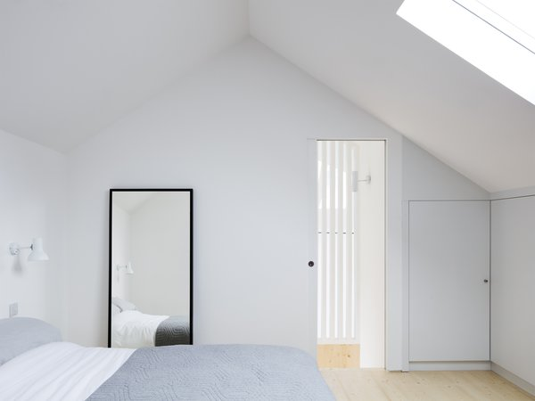Vaulted ceilings allow for a spacious loft, complete with the second bedroom.  Skylights draw plentiful daylight into the lofted space.