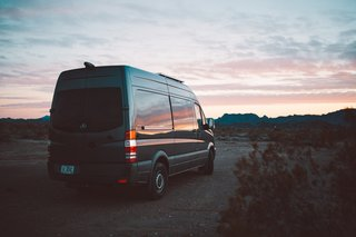 Lexi and Cody's original van was a 2016 Mercedes Sprinter 2500 RWD.  They bought the vehicle in May of 2016, moved into it in October of that year, and recently sold it this past June.
