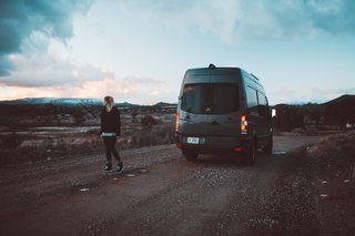 While Lexi and Cody park their van in beautiful settings surrounded by mountains, beaches, and parks, they oftentimes have to park in a parking lot; it's all part of the adventure.