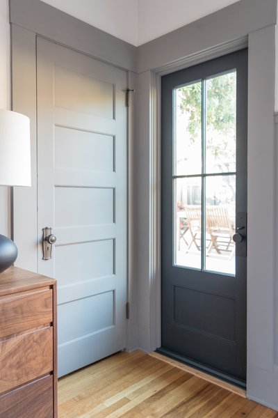 The custom made door from Pella aligns perfectly with the original details of the home.